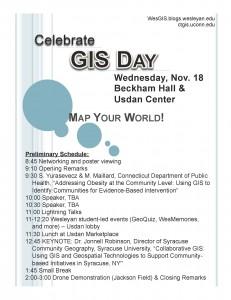 GIS DAY flier